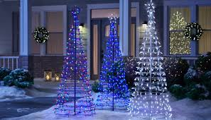 How To Make Outdoor Christmas Tree Out Of Lights Christmas Decorations The Home Depot