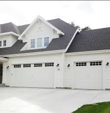 garage door options all white house black roof white