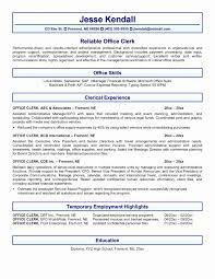 Office Clerk Resume Examples Sample Resume Office Clerk Inspirational Sample Resume Fice Staff 20