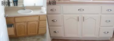 painting bathroom cabinets adorable decor bathvanitybeforeandafter