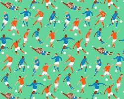 Football Pattern Enchanting Football Pattern On Behance
