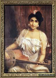 lady playing the veena