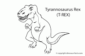 Cute T Rex Coloring Page Many Interesting Cliparts