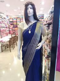 Graduation Saree Design Elegant Georgette Plain Saree Striped With Gold Border And