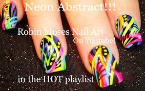 NEON Abstract nails | Bright Spring Nail Art Design Tutorial - YouTube