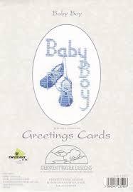 Derwentwater Designs Penrith Derwentwater Designs Baby Boy Cross Stitch Card Kit Cross