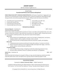 Certified Crane Operator Sample Resume