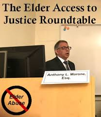 law offices elder law and estate planning attorneys anthony l marone and jennifer simons attended the annual elder access to justice round table