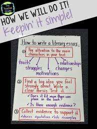 getting ready for literary essays blog anchor charts and school getting ready for literary essays today s blog post about our first steps in