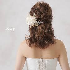 ミディアムヘアの花嫁様必見ヘアスタイル Dressyドレシーby