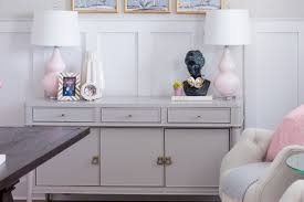dining room to office. Contemporary Room Chic And Girly Home Office Gray Sideboard Pink Lamps DIY Gold Chandelier  Desk On Dining Room To Office