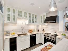 Popular Combination White Kitchen Cabinets And Black Countertops