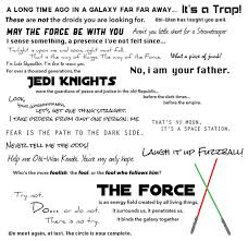Famous Star Wars Quotes Gorgeous Star Wars Quote Collection Wall Decal Modern Wall Decals By