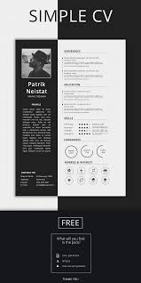 Simple Resume Template Free On Behance