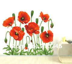 poppy wall paper poppy wall decals fashion new products red poppies flower decal bedroom decor wall stickers home art poppy wallpaper iphone on poppy wall art stickers with poppy wall paper poppy wall decals fashion new products red poppies