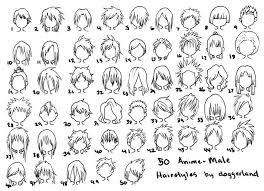 Collection Of Male Anime Hairstyles Drawing Download More