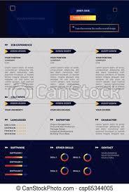Modern Creative Resume Template Creative Resume Template Colorful Cv Design Vector