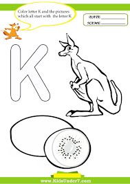 Letter K Coloring Pages Letterk Alphabet