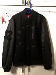 men s nike air destroyer leather jacket sz l small black stars usa 802644 010