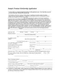 Scholarshiporm Template Application Word Ideas Stirring