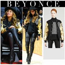 beyonce golden and black leather jacket for women top celebrity jackets