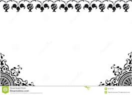 Border Black And White Frame Black And White Stock Illustration Illustration Of Background