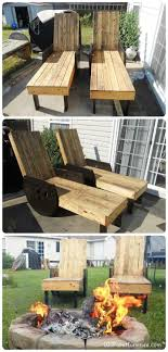 Outdoor Pallet Lounge Chairs
