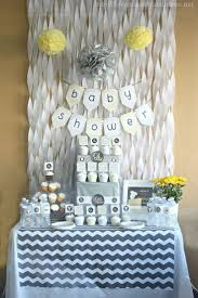 DIY BABY SHOWER DECORATIONS. Crepe Paper Waterfall Wall.