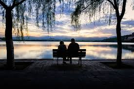 Image result for old people at sunset images