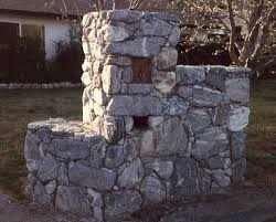 stone mailbox designs. Stone (river Rock) Mailbox Designs