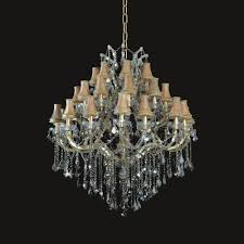 european style 36 1 lights golden teak crystal with lamp shades gold finish chandelier