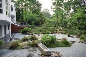 Backyards  Fascinating Japanese Garden Backyard Design For Long Japanese Backyard Garden