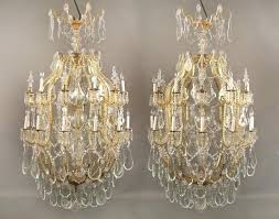 chandeliers glass pair of palatial century gilt bronze and cut glass chandeliers chandelier square glass shades