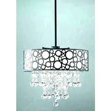 crystal chandelier with black drum shade modern crystals three dining room al wit black shade chandelier