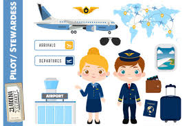Download icons in all formats or edit them for your designs. Pilot Clipart Airport Clip Art Airplane Graphic By Zlatoena Clipart Creative Fabrica