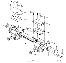 12193 econo horse 6 5hp opc transmission housing covers seals gaskets and plug ⎙ print diagram