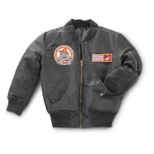kids ma1 marine corps jacket black
