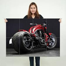 harley davidson v rod motorcycle block
