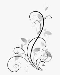Design Black And White Art Flower Display Art Abstract Vector Royalty Free Stock