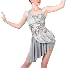 A Wish Come True Size Chart A Wish Come True Gray Dance Costume Sequin Lace Sa Nwt