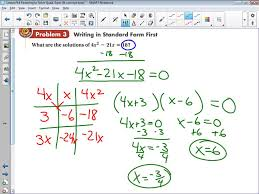 algebra 1 lesson 9 4 factoring to solve quadratic equations