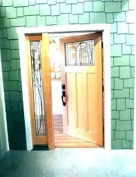 s entry door with single sidelight fiberglass