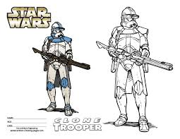 Small Picture Wars Clone Trooper Coloring Pages