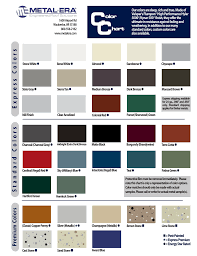 Electronic Metal Era Color Chart 2016_2009 Color Chart