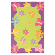 kas rugs spring fun lime purple 8 ft x 10 ft area rug