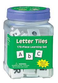 Amazon.com: Eureka Tub Of Letter Tiles, 176 Tiles in 3 3/4\