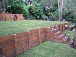 wood retaining wall garden retaining