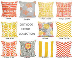 Orange yellow pillow