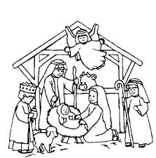 Nativity Scene Coloring Page Christmas Nativity Coloring Pages
