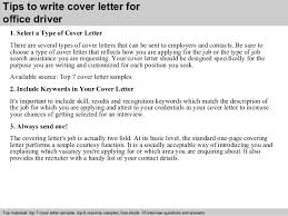 Driver Cover Letters Office Driver Cover Letter